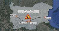 Затварят платното за Бургас между Белозем и Оризово следобед