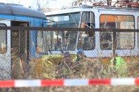 Катастрофа между трамвай и камион в София