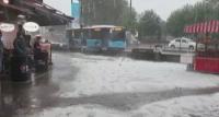 Порой и силна градушка в Истанбул