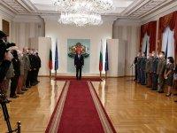 Президентът Радев удостои военнослужещи с висше офицерско звание