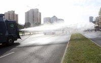 Десетки арестувани на протеста в Минск, полицията използва шокови гранати и водни струи