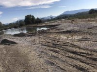 Разкриха крупен незаконен добив на инертни материали от река Струма (Снимки)