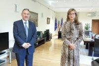 Екатерина Захариева се срещна с Любчо Георгиевски