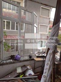 снимка 1 Жена пострада при взрив на газова бутилка в Асеновград (СНИМКИ)