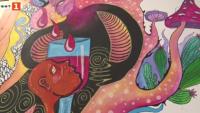 Улично изкуство на закрито в театъра в Хасково