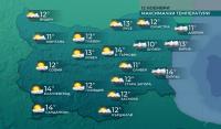 Следобед: Слънчево на запад, облачно с валежи на изток