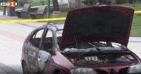 Мъж подпали колата си пред общината във Враца
