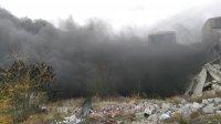 снимка 1 Голям пожар в склад в Ямбол