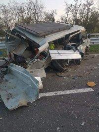 "Двама пострадаха при тежка катастрофа на магистрала ""Хемус"""
