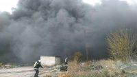 снимка 4 Голям пожар в склад в Ямбол