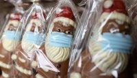 Шоколадов Дядо Коледа с маска - хит в Германия (СНИМКИ)