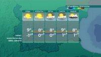 Максималните температури ще са от 7° до 12°