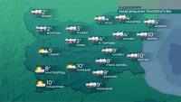 В Северна България продължава да вали сняг, в Югоизточна и по Черноморието - дъжд