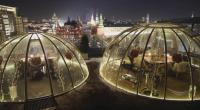 Ресторант със стъклени куполи в Москва