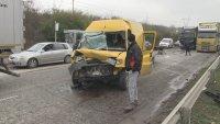 Верижна катастрофа блокира движението на пътя Русе - Букурещ