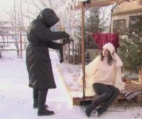 Как се прави фотосесия при -20 градуса в Сибир