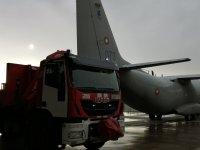 """снимка 2 Камиони докараха част от хуманитарната помощ за Хърватия на авиобаза """"Враждебна"""" (Видео, снимки)"""