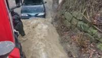 Наводнения в района на Нови Искър, коли са залети от придошла вода