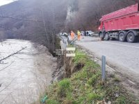 Затвориха в двете посоки пътя Банско - Гоце Делчев заради подкопана подпорна стена