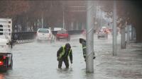 Наводнени улици в Пловдив, нивото на Марица е далеч от критичната си точка