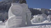 Състезание за снежни скулптури се проведе във френските Алпи