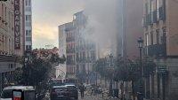 Взрив в центъра на Мадрид (СНИМКИ)