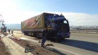 """снимка 5 Камион се вряза в спрял ТИР на АМ """"Струма"""" (СНИМКИ)"""