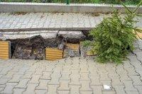 снимка 6 Ремонтират пропадналия тротоар пред Медицинска академия