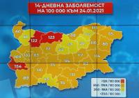 Само три области в България са в червената Ковид зона