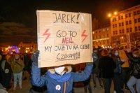 снимка 2 Поредни протести срещу забраната за аборти в Полша, има задържани