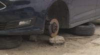Крадци във Варна взимат гумите на колите заедно с джантите