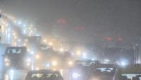 Снегът и виелицата предизвикаха задръствания в София