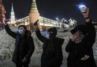 снимка 1 Демонстрации със светещи телефони в подкрепа на Навални в Русия