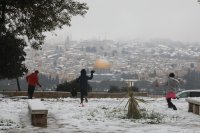 Сняг в Ерусалим (Снимки)