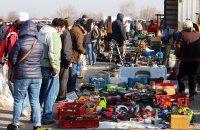 снимка 1 Битпазар в събота - без дистанция и маски, със струпване на хора