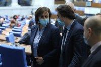 Нинова пита Борисов: Ще се отложат ли задълженията на концесионера на Летище София