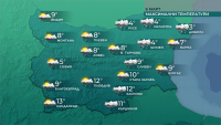 Очаква ни понижение на температурите днес