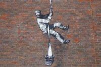 Банкси показа как създава графитите си