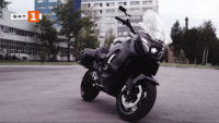 Нов електрически мотоциклет в кортежа на руския президент