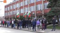 Служители и собственици на фитнес зали протестираха срещу мерките в Силистра