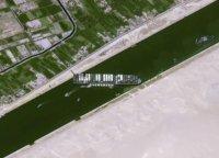 снимка 6 Сателитни снимки: Вижте блокирания Суецки канал (Снимки)