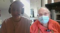 Той е на 20, тя - на 98. Едно приятелство, възникнало въпреки пандемията