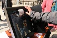 снимка 1 Как се гласува с машини - демонстрация на ЦИК пред НС (ВИДЕО)