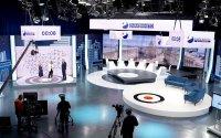 101 квадратни метра видеостена в изборното студио на БНТ (ВИДЕО)