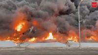 Голям пожар избухна в испанския град Сесеня