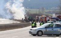 """снимка 1 Тир и цистерна са се ударили на """"Тракия"""", загинал е единият шофьор (ВИДЕО)"""