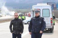 """снимка 2 Тир и цистерна са се ударили на """"Тракия"""", загинал е единият шофьор (ВИДЕО)"""