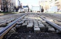 снимка 4 Започна ремонтът на трасето по трамвайна линия 5 (СНИМКИ)