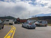 """Въоръжени обраха инкасо автомобил на бензиностанция на АМ """"Струма"""""""