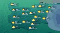 Летни температури и днес, захлаждане утре